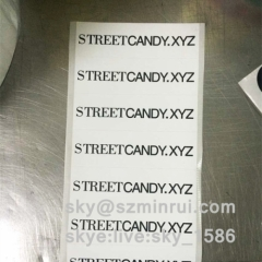 Custom Tamper Evident Destructible Strip Seal Labels/Brittle Eggshell Security Seal Stickers