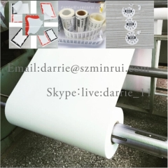 China top vinyl manufacturer Minrui supply premium quality thin 40-50 micron ultra destructible label paper materials