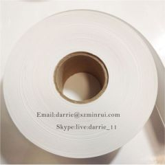 China top adhesive vinyl manufacturer Minrui supply premium quality thin 40-50 micron destructible vinyl label material