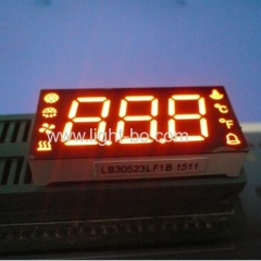 custom design led display; orange 7 segment ; custom 3 digit 7 segment