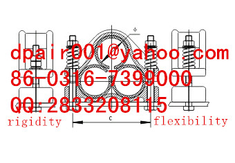 high tension JGYH-4F flexibility three core cable clamp