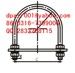 JGU-80 Cable u-bolt with anti-corrosion alloy