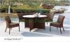 Patio rattan table chair furniture set