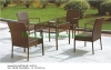 Outdoor patio table chair set rattan table chair furniture