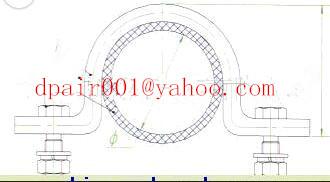 aluminium alloy plate JGL-2 type cable clamp