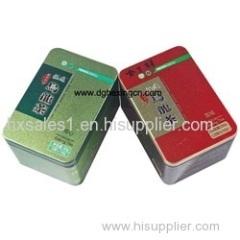 Rectangle seamless tea tin box wholesales