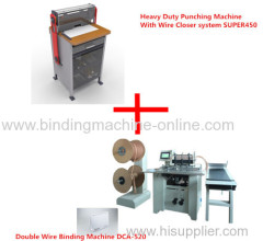 Factory use calendar punching machine and binding machine