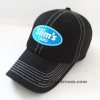 100% COTTON CUSTOM LOGO EMBROIDERY HAT CONTRAST STICHING BASEBALL HAT