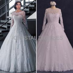 ALBIZIA Gorgeous Sweetheart Beads Lace Applique A-line Sweep/Brush Wedding Dresses