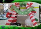 Waterproof Inflatable Holiday Decorations Christmas Candy Cane Arch With Santa