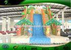Amusement Park Forest Theme Inflatable Bouncy Castle Slide For Kids