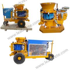 Dry-mix concrete spraying machine