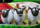 Advertising Exhibition Sheep Shaped Inflatable Farm Mascots With Logo Printing