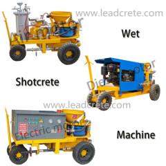 dry/wet mix Shotcrete Machine