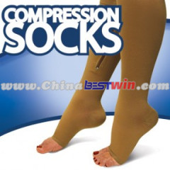 Zipper Compression Socks As Seen On TV