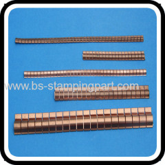 Beryllium copper finger contact