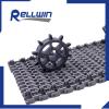 Radius Flush grid sprialox modular conveyor belt is620