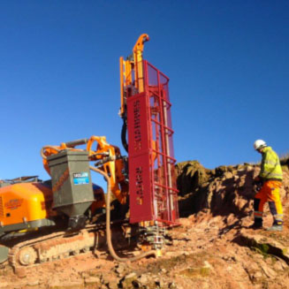 Micropiles and rock drilling rigs