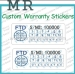 Custom Private Design Fragile Paper Printing Self Adhesive Destructive Vinyl Security Warranty Sticker Label