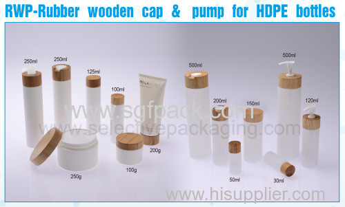 HDPE bottles wooden cap wooden pump