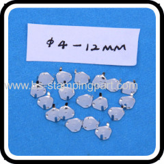 stainless steel PCB metal dome switch contact with pins feet