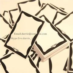 China top factory of destructible self adhesive label material supply premium quality blank my name is Eggshell sticker