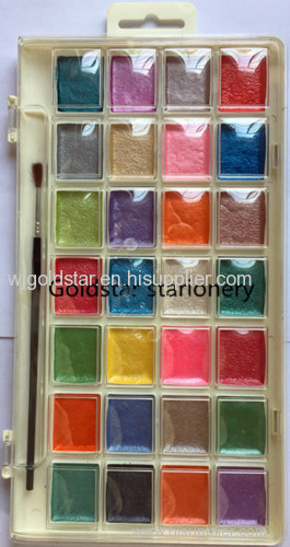28 color pearl watercolor paint set