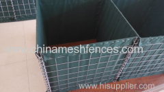 Perimeter Defensive Hesco Barrier with 8 gauge wire