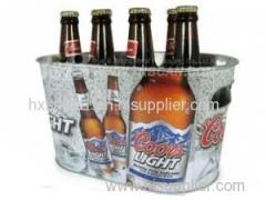 Tin beer bucket for bar club