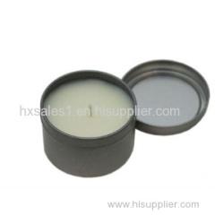 Round plain 2-pieces candle tin box