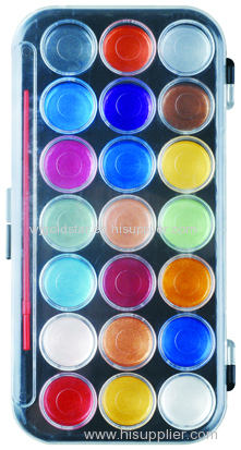21 Colors Pearl Watercolor Paint
