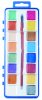 12 colors pearl watercolor painting set with plastic palette