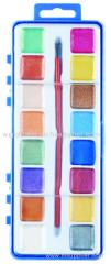 12 цветов жемчужно акварель набор с пластиковой палитре