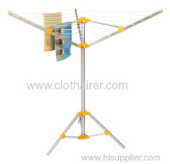 3-Arm Portable Travelling Camping Umbrella Clothes Dryer with Tripod Stand