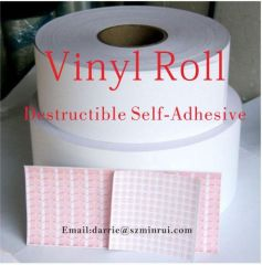 China top manufacturer direct supply Shenzhen Minrui Products customized self adhesive vinyl sticker plain paper