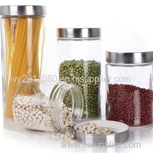 Four Glass Mason Jar Set