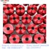 colored polyester bright fdy yarn red color 300D stock