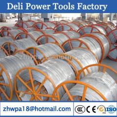 anti-twisting steel rope with steel or wooden reels as optional