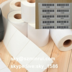 Wholesale Blank White Destructible Vinyl Stickers in Rolls Blank Destructible Paper Label
