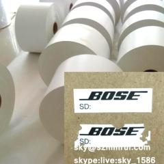 destructible security label paper/breakable warranty sticker materials/destructible paper roll