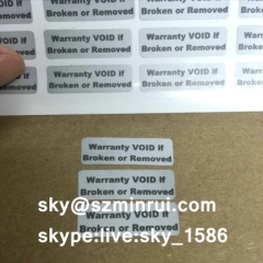tamper evident seal sticker/security labels and seals/anti-counterfeit warranty stickers