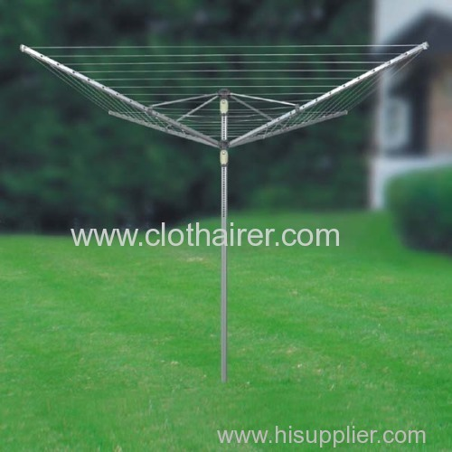 4-Arm Umbrella Adjustable Folding Rotary Clothes Airer
