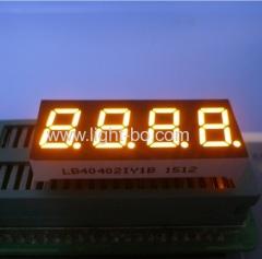 "4 digit 0.4 "" amber led display; 4 digits yellow led display; 0.4"" amber led display;4 digit 0.4"" amber 7 segment"