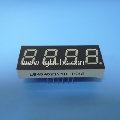 Super Bright Amber four digits 0.4  common anode 7 segment led display for instrument panel