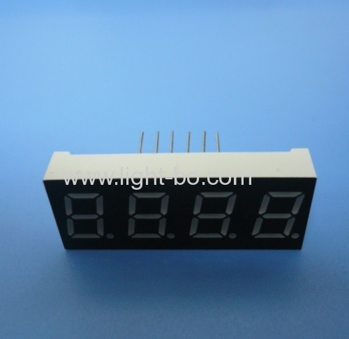 Super bright red common anode 0.4  4 digit 7 segment led display for process indicator