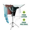 Indoor and Outdoor Free Standing Steel Umbrella Rotary Clothes Dryer