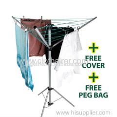 paraguas de pie de acero interiores y exteriores secadora rotativa
