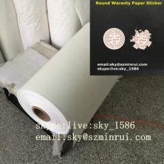 destructible vinyl paper/security label paper/destructible paper material