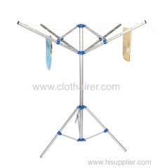4-Arm Small Aluminum Rotary Clothes Dryer with Free Standing