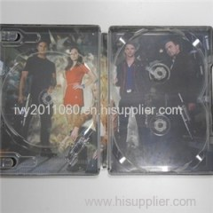 Three Slots Plastic CD Box